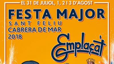 Part del cartell anunciador de la Festa Major
